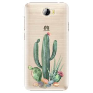 Plastové pouzdro iSaprio Kaktusy 02 na mobil Huawei Y5 II / Y6 II Compact