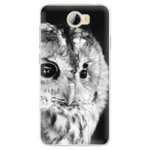 Plastové pouzdro iSaprio BW Sova na mobil Huawei Y5 II / Y6 II Compact