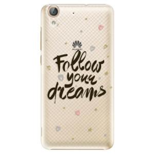Plastové pouzdro iSaprio Follow Your Dreams černý na mobil Huawei Y6 II