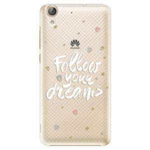 Plastové pouzdro iSaprio Follow Your Dreams bílý na mobil Huawei Y6 II
