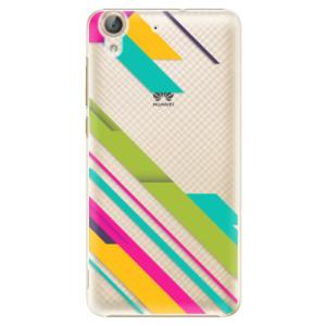 Plastové pouzdro iSaprio Barevné Pruhy 03 na mobil Huawei Y6 II