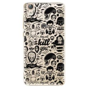 Plastové pouzdro iSaprio Komiks 01 black na mobil Huawei Y6 II