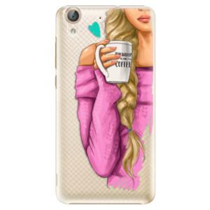 Plastové pouzdro iSaprio Blondýnka s kafčem na mobil Huawei Y6 II