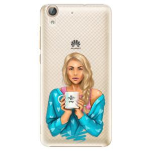 Plastové pouzdro iSaprio Coffee Now Blondýna na mobil Huawei Y6 II