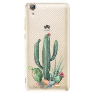 Plastové pouzdro iSaprio Kaktusy 02 na mobil Huawei Y6 II