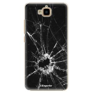 Plastové pouzdro iSaprio Broken Glass 10 na mobil Huawei Y6 Pro