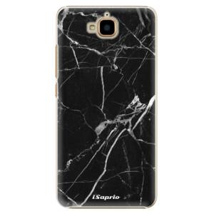 Plastové pouzdro iSaprio black Marble 18 na mobil Huawei Y6 Pro
