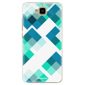Plastové pouzdro iSaprio Abstract Squares 11 na mobil Huawei Y6 Pro