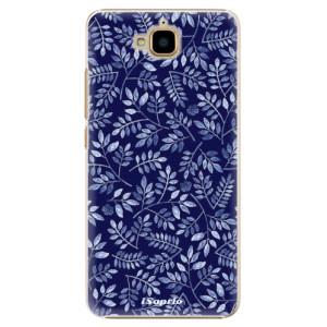 Plastové pouzdro iSaprio Blue Leaves 05 na mobil Huawei Y6 Pro