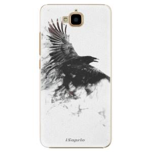 Plastové pouzdro iSaprio Havran 01 na mobil Huawei Y6 Pro