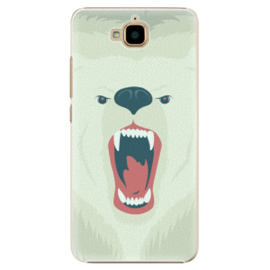 Plastové pouzdro iSaprio Angry Bear na mobil Huawei Y6 Pro