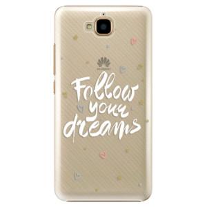 Plastové pouzdro iSaprio Follow Your Dreams bílý na mobil Huawei Y6 Pro