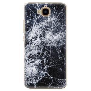 Plastové pouzdro iSaprio Praskliny na mobil Huawei Y6 Pro