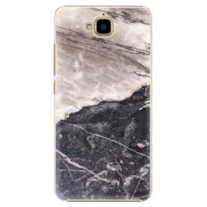 Plastové pouzdro iSaprio BW Marble na mobil Huawei Y6 Pro