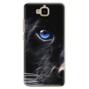 Plastové pouzdro iSaprio black Puma na mobil Huawei Y6 Pro