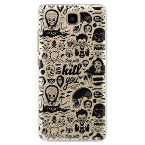 Plastové pouzdro iSaprio Komiks 01 black na mobil Huawei Y6 Pro