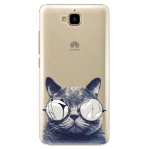 Plastové pouzdro iSaprio Šílená Číča 01 na mobil Huawei Y6 Pro