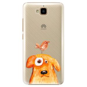 Plastové pouzdro iSaprio Pejsek a Ptáček na mobil Huawei Y6 Pro