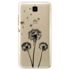 Plastové pouzdro iSaprio Tři Černé Pampelišky na mobil Huawei Y6 Pro