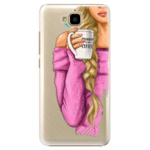 Plastové pouzdro iSaprio Blondýnka s kafčem na mobil Huawei Y6 Pro