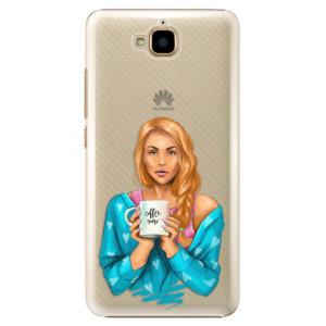 Plastové pouzdro iSaprio Coffee Now Zrzka na mobil Huawei Y6 Pro