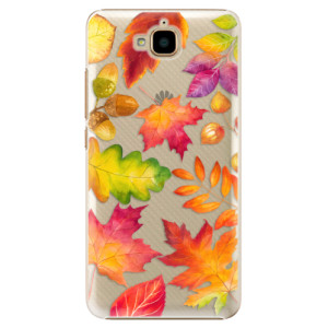 Plastové pouzdro iSaprio Autumn Leaves 01 na mobil Huawei Y6 Pro