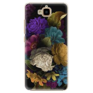 Plastové pouzdro iSaprio Temné Květy na mobil Huawei Y6 Pro