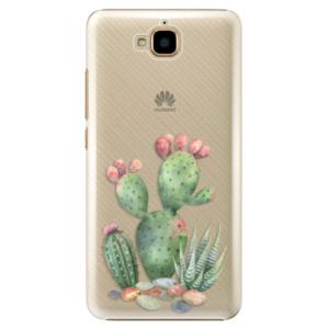 Plastové pouzdro iSaprio Kaktusy 01 na mobil Huawei Y6 Pro