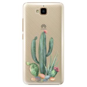 Plastové pouzdro iSaprio Kaktusy 02 na mobil Huawei Y6 Pro