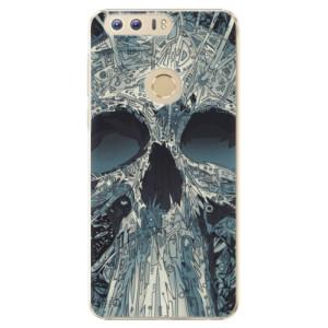 Plastové pouzdro iSaprio Abstract Skull na mobil Huawei Honor 8