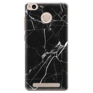 Plastové pouzdro iSaprio black Marble 18 na mobil Xiaomi Redmi 3S