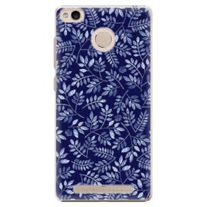 Plastové pouzdro iSaprio Blue Leaves 05 na mobil Xiaomi Redmi 3S