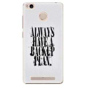 Plastové pouzdro iSaprio Backup Plan na mobil Xiaomi Redmi 3S