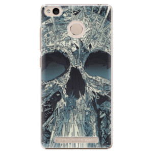 Plastové pouzdro iSaprio Abstract Skull na mobil Xiaomi Redmi 3S