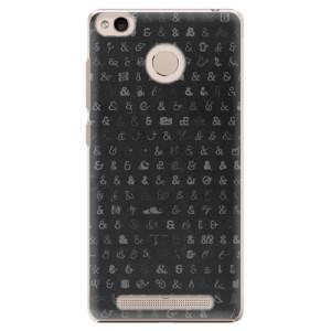 Plastové pouzdro iSaprio Ampersand 01 na mobil Xiaomi Redmi 3S