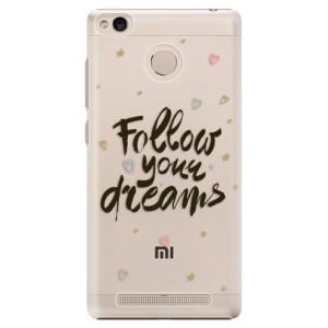 Plastové pouzdro iSaprio Follow Your Dreams černý na mobil Xiaomi Redmi 3S
