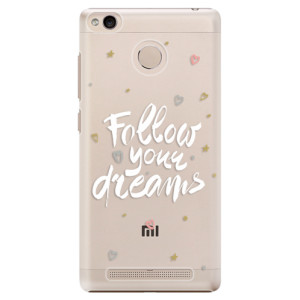 Plastové pouzdro iSaprio Follow Your Dreams bílý na mobil Xiaomi Redmi 3S