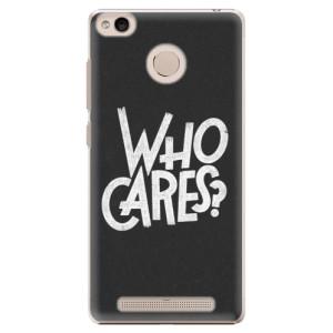 Plastové pouzdro iSaprio Who Cares na mobil Xiaomi Redmi 3S