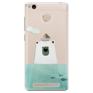 Plastové pouzdro iSaprio Bear With Boat na mobil Xiaomi Redmi 3S