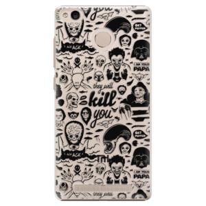 Plastové pouzdro iSaprio Komiks 01 black na mobil Xiaomi Redmi 3S
