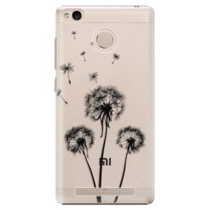 Plastové pouzdro iSaprio Tři Černé Pampelišky na mobil Xiaomi Redmi 3S