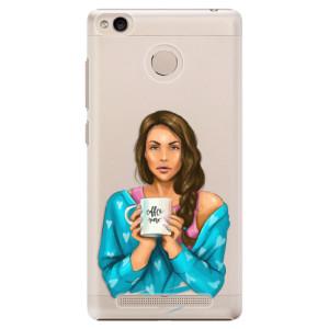 Plastové pouzdro iSaprio Coffee Now Brunetka na mobil Xiaomi Redmi 3S