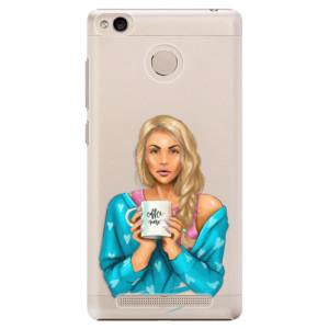 Plastové pouzdro iSaprio Coffee Now Blondýna na mobil Xiaomi Redmi 3S
