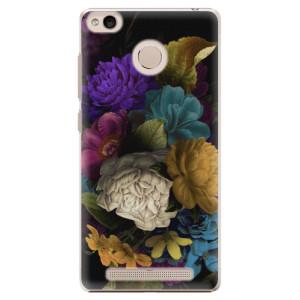 Plastové pouzdro iSaprio Temné Květy na mobil Xiaomi Redmi 3S