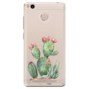 Plastové pouzdro iSaprio Kaktusy 01 na mobil Xiaomi Redmi 3S