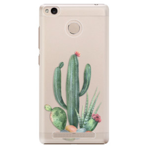 Plastové pouzdro iSaprio Kaktusy 02 na mobil Xiaomi Redmi 3S