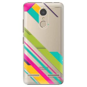 Plastové pouzdro iSaprio Barevné Pruhy 03 na mobil Lenovo K6