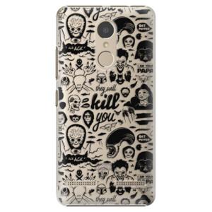 Plastové pouzdro iSaprio Komiks 01 black na mobil Lenovo K6