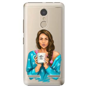 Plastové pouzdro iSaprio Coffee Now Brunetka na mobil Lenovo K6