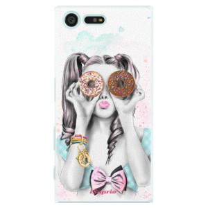 Plastové pouzdro iSaprio Donutky Očiska 10 na mobil Sony Xperia X Compact